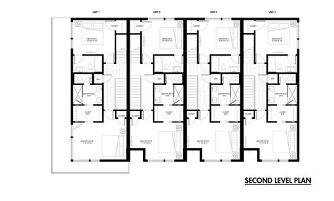 row house floor plans row house plans town home plans six units tandem garage