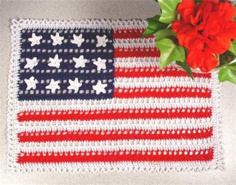 crochet pattern us flag american flag doilies crochet pattern maggie s crochet