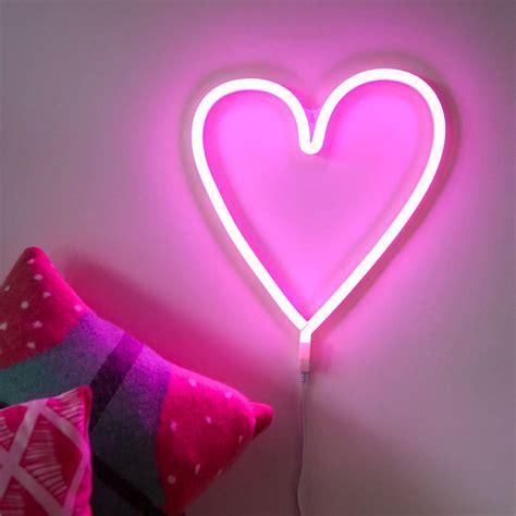 neon style led wall light by berylune notonthehighstreet