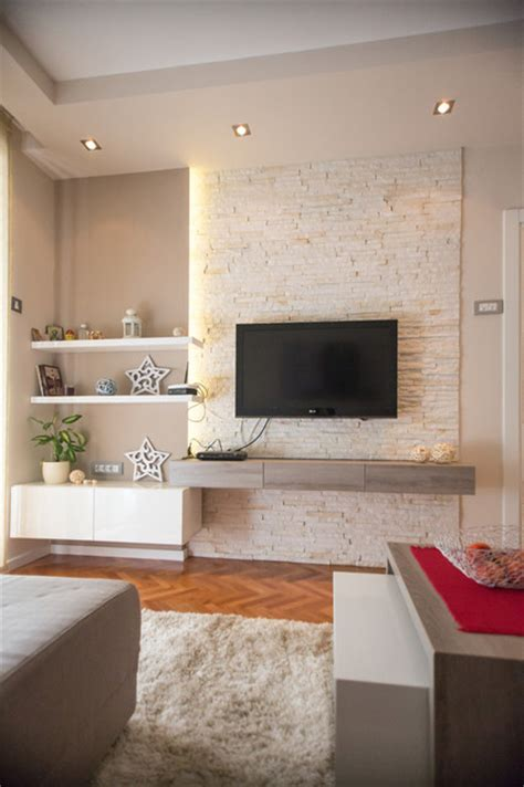 Houzz Living Room Feature Wall And Dreams