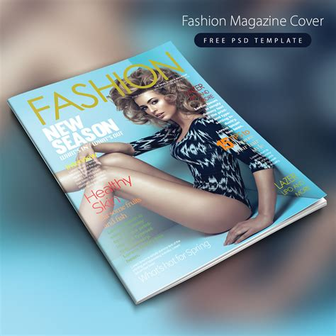 free magazine cover templates downloads fashion magazine cover free psd template