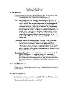 Essay Standard Format by Best Photos Of Standard Outline Format 5 Paragraph Essay Outline Format Basic Outline Format