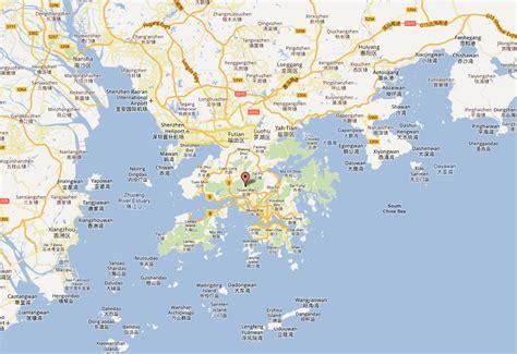 hong kong map  hong kong satellite image