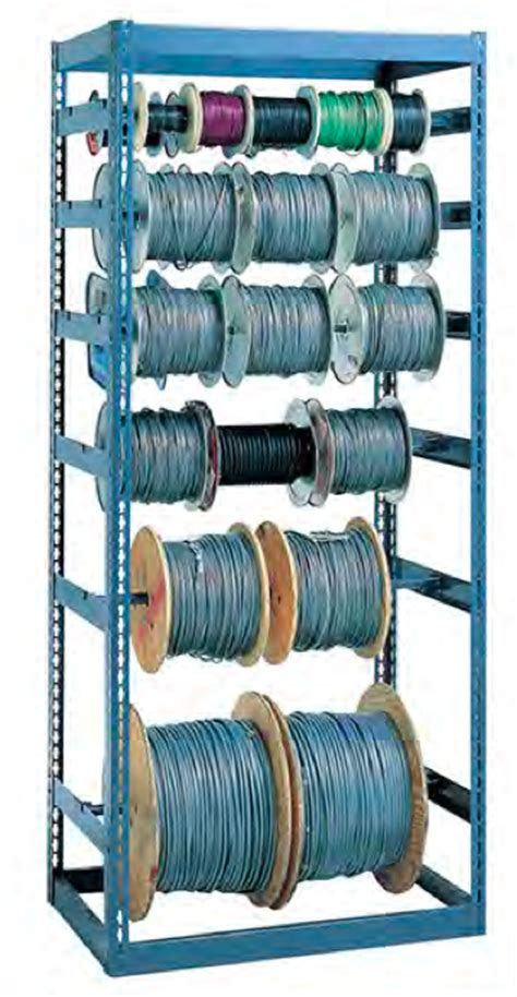 electrical wire spool storage racks wire reel rack system