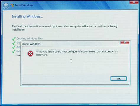 errore interno server resolvendo erro could not configure windows