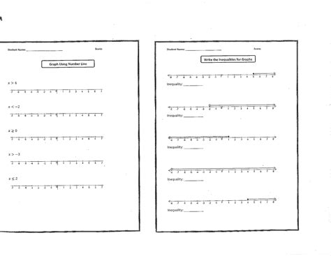inequality worksheets for 6th graders sixth grade math