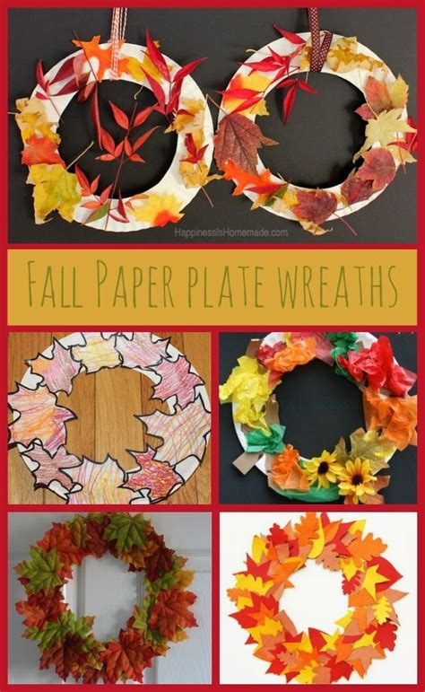 Paper Plate Fall Crafts - 25 unique fall crafts for ideas on fall