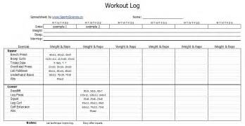 work out templates free workout log template sports science co