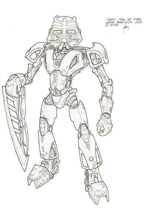 coloring page lego bionicle tahu toa of fire by hk 887 on deviantart bionicle hero