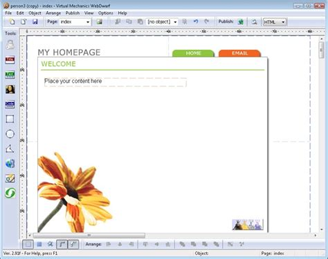 layout editor in pagemaker webdwarf free web page maker standaloneinstaller com