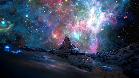 galaxy wallpaper buy mountain in the stars by jazmack on deviantart