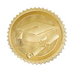 Stamps seals and embossers gt gt gold foil certificate seals graduation