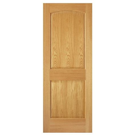 solid interior doors home depot steves sons 30 in x 80 in 2 panel arch solid oak