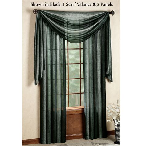 scarf valance picture window treatments ombre semi sheer scarf valance and window treatments