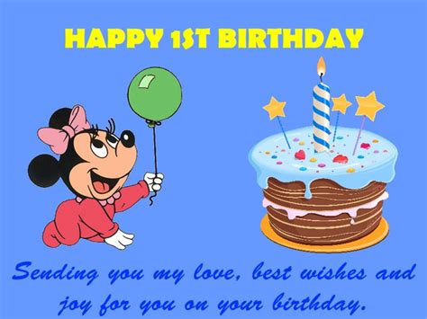 Happy Birthday 1st Year Wishes 1st Birthday Wishes Messages And Quotes Collection
