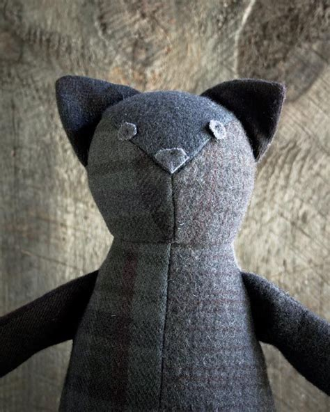 The Patchwork Cat - wool patchwork cat feutrine et bouillie