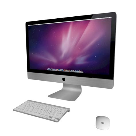 Mac Desk Top Computer 27 Quot Imac With Keyboard And Mouse Design And Decorate Your Room In 3d