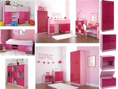 ottawa caspian pink gloss bedroom furniture