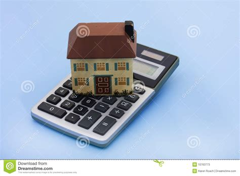 house loans calculator mortgage calculator stock photos image 10763773