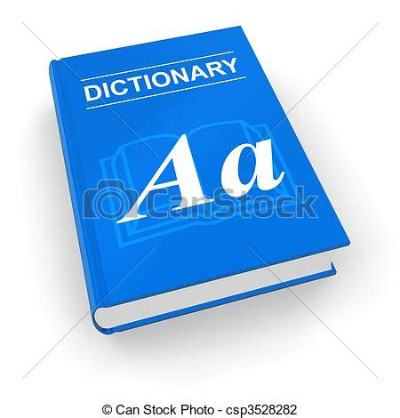 doodle free dictionary clip of blue dictionary csp3528282 search clipart