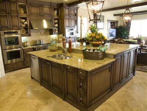 large kitchens with islands brilliant large kitchens with islands two level kitchen