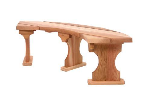 circular wooden benches cedar quarter round bench unassembled qr60u