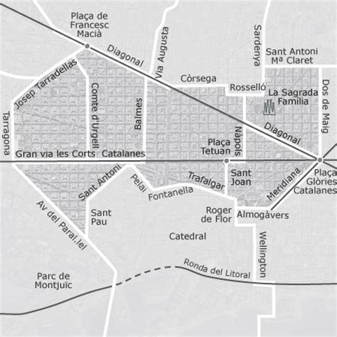 mapa de eixample barcelona idealista