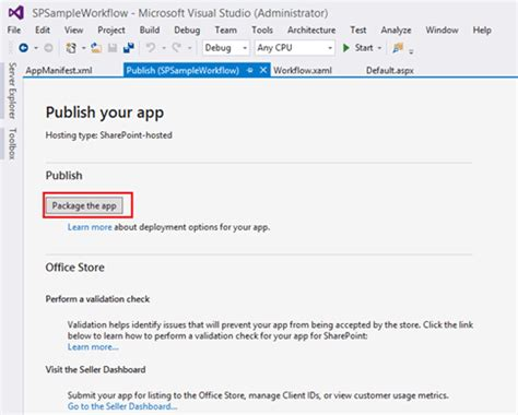sharepoint hosted app workflow add sharepoint app workflow to host web list technet