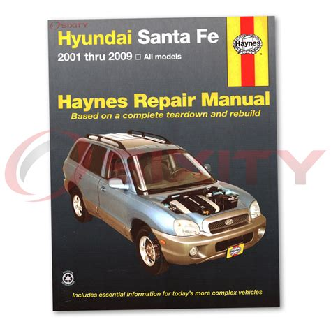 for hyundai santa fe haynes repair manual gls lx base limited se shop service ut ebay