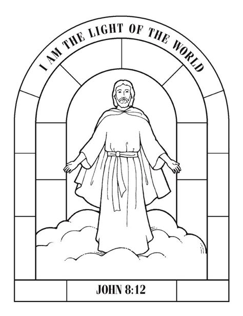 free printable coloring pages of jesus on the cross i am the light of the world john 8 12 free printable
