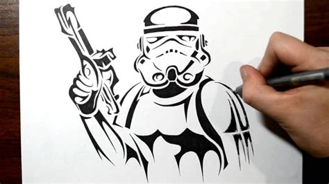 star wars tribal tattoo how to draw a stormtrooper tribal design style