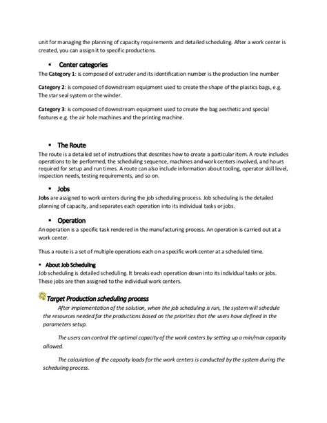 Master Production Scheduler Cover Letter by Production Scheduler Description Scheduler