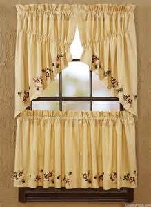 bee curtains cambrie bees window curtain prairie swag