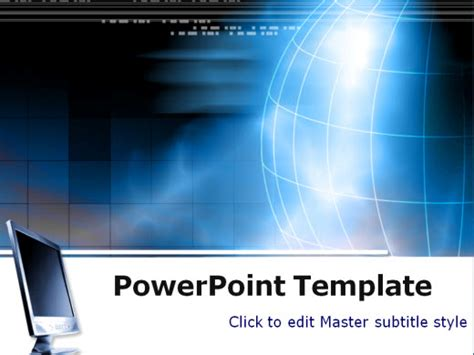Free Technology Powerpoint Templates Wondershare Ppt2flash Technology Powerpoint Templates Free