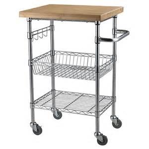 Kitchen Cart Wire Rolling Wheel Kitchen Cart Microwave Stand Storage