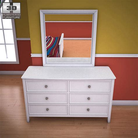 Ashley Caspian Panel Dresser Mirror 3d Model Hum3d Caspian Bedroom Furniture