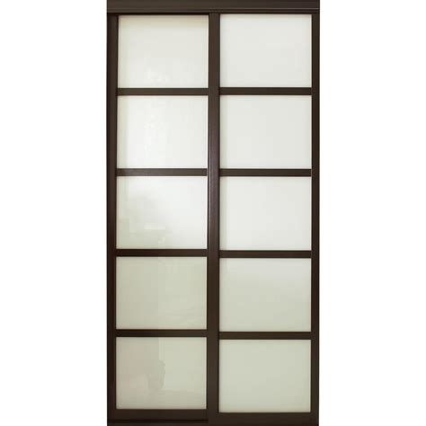 Contractors Wardrobe 60 In X 96 In Tranquility Glass Interior Wooden Doors With Glass Panels