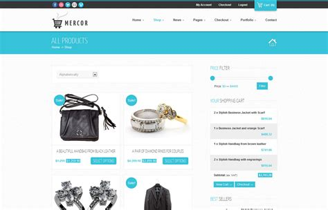 wordpress themes free shopping cart mercor responsive woocommerce theme by gljivec themeforest
