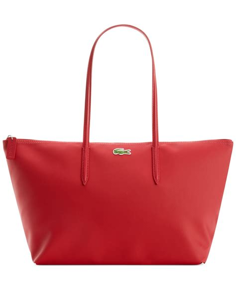 shopping bags lacoste large shopping bag in red lyst