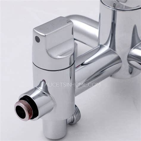 modern chrome copper bathroom shower faucet with faucet