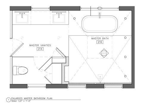 Master Bathroom Design Plans White Master Bath Best Layout Room