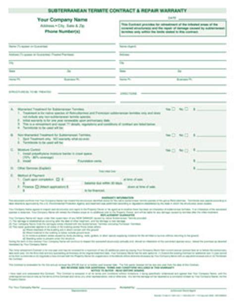 7266 subterranean termite contract amp repair warranty 2pt