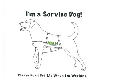 coloring pages of service dogs coloring pages