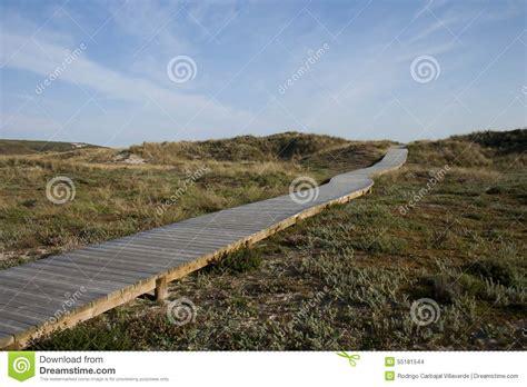 dune dune 1 spanish wooden walk in spanish beach stock photo image 55181544