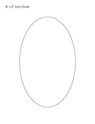 oval shaped card template oval template math template shapes and craft
