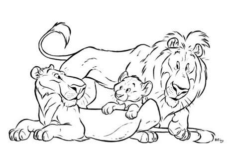 imagenes de leones para pintar familia de leones para pintar y colorear mama leona papa