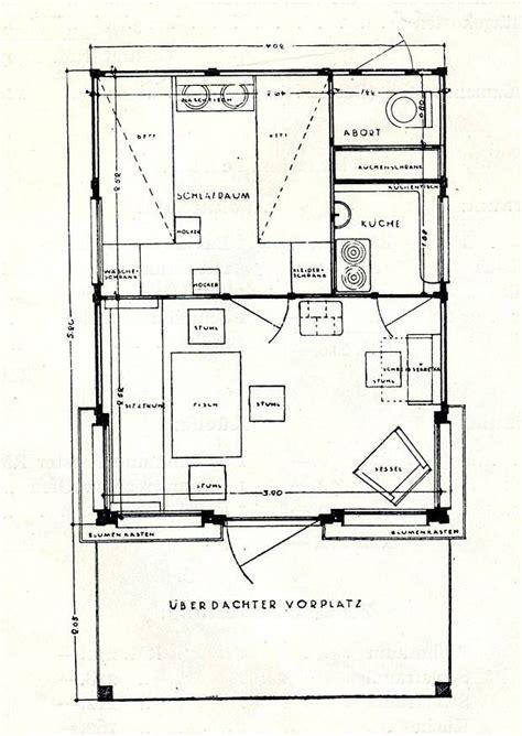 Wochenendhaus Grundriss by Wochenendhaus Gartenhaus Grundriss Konrad Wachsmann