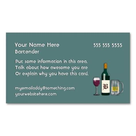 Bartender Business Cards 1000 images about bartender business cards on