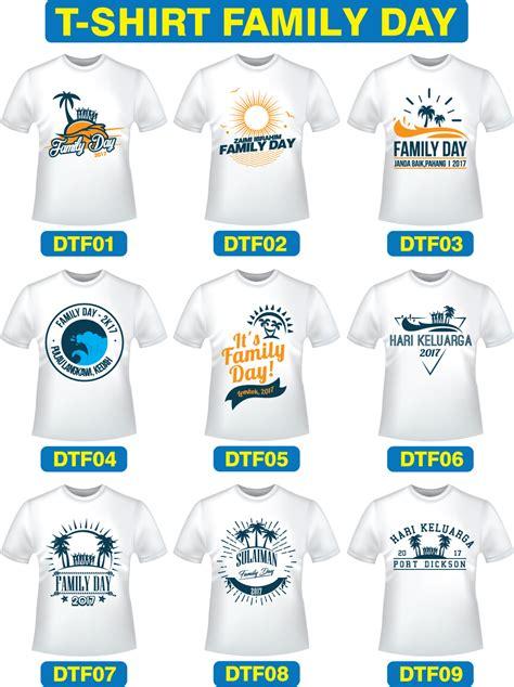 design baju maker koleksi design baju t shirt family day cetak baju murah