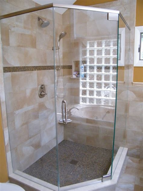 Corner Glass Shower Doors Frameless by Semi Frameless Shower Glass Semi Frameless Corner
